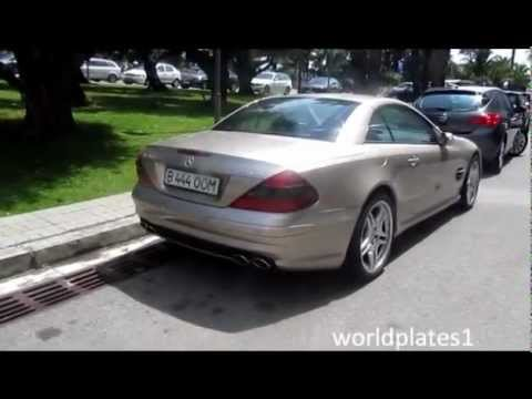 Kazakhstan Gold Mercedes SL500 in Barcelona