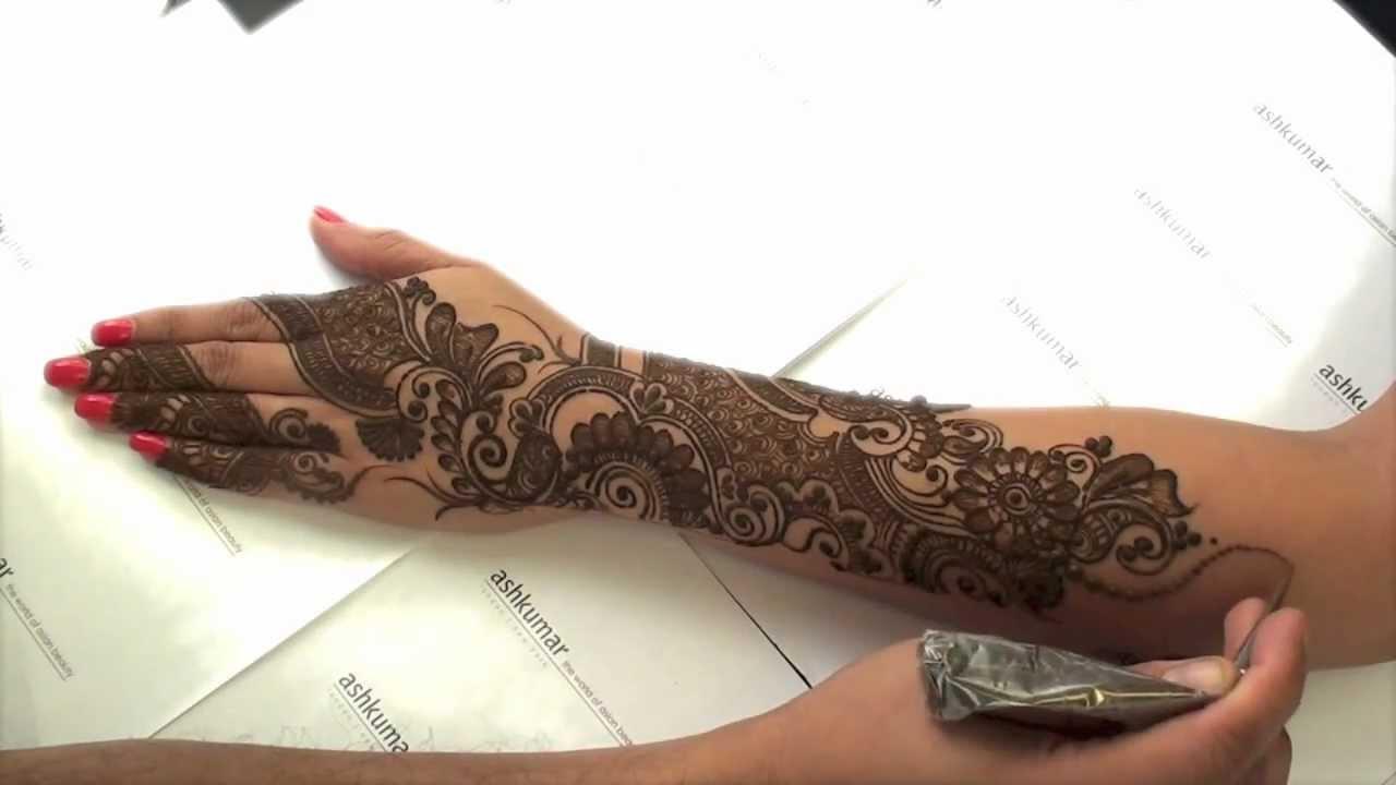 Latest Mehndi Designs By Ash Kumar : Ashkumar ak makeup henna academy ash kumar