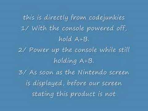 Action replay fix (reset) for ds