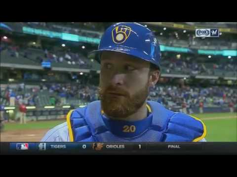 """Brewers catcher Jonathan Lucroy on Junior Guerra: """"He was mixing his pitches really well"""""""