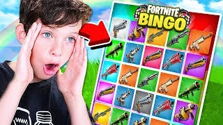 *NEW* 1v1 FORTNITE RAINBOW BINGO CHALLENGE with my LITTLE BROTHER!