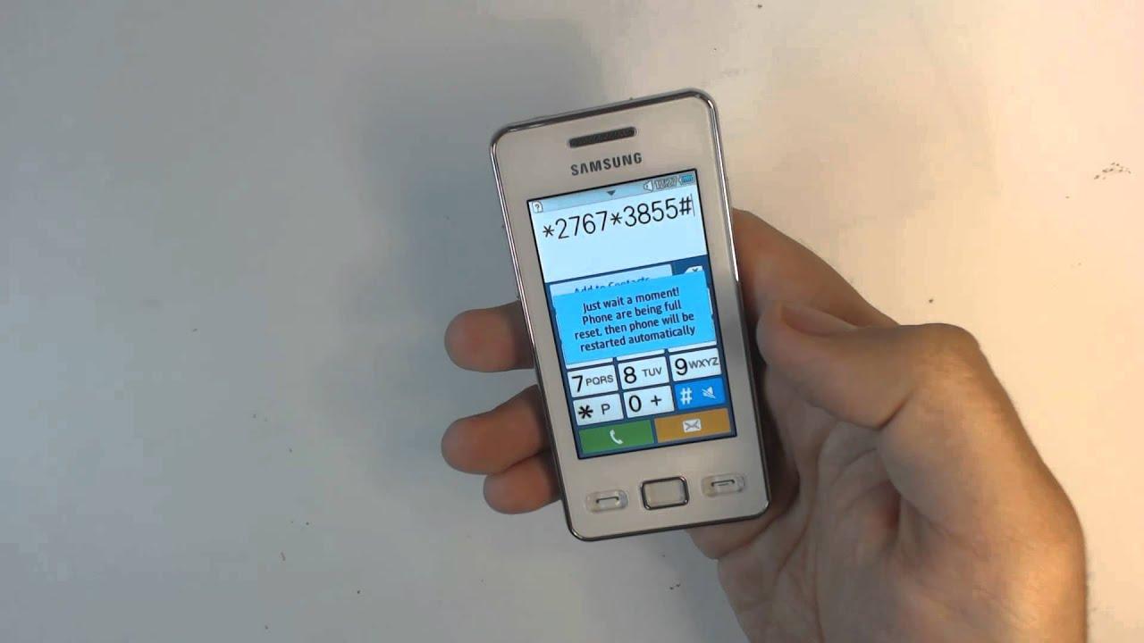 Как сделать сброс настроек на телефоне самсунг gt-s5230