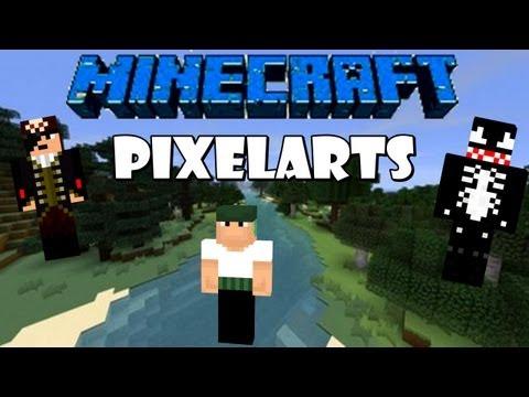 Minecraft: Pixelarts das skins do Feromonas,Venom e Monark