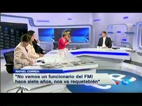Entrevista al Presidente Rafael Correa en TVE