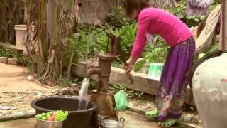 Feast in Cambodian Village