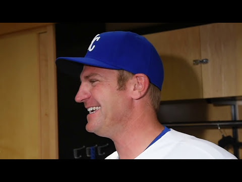 NASCAR Sprint Cup racer Clint Bowyer at Kauffman Stadium
