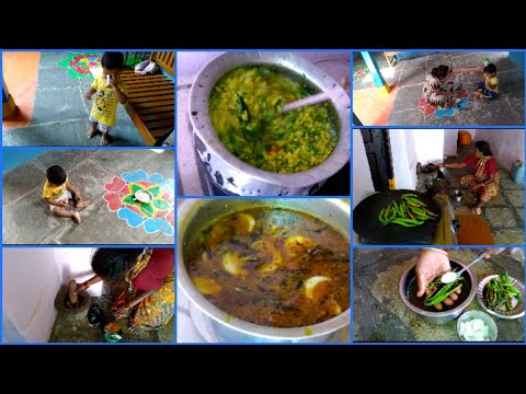 #DIML SOUTH INDIAN VEG LUNCH MENU|BEERAKAY PAPPU&PACCHI PULUSU|Mana inty tip's