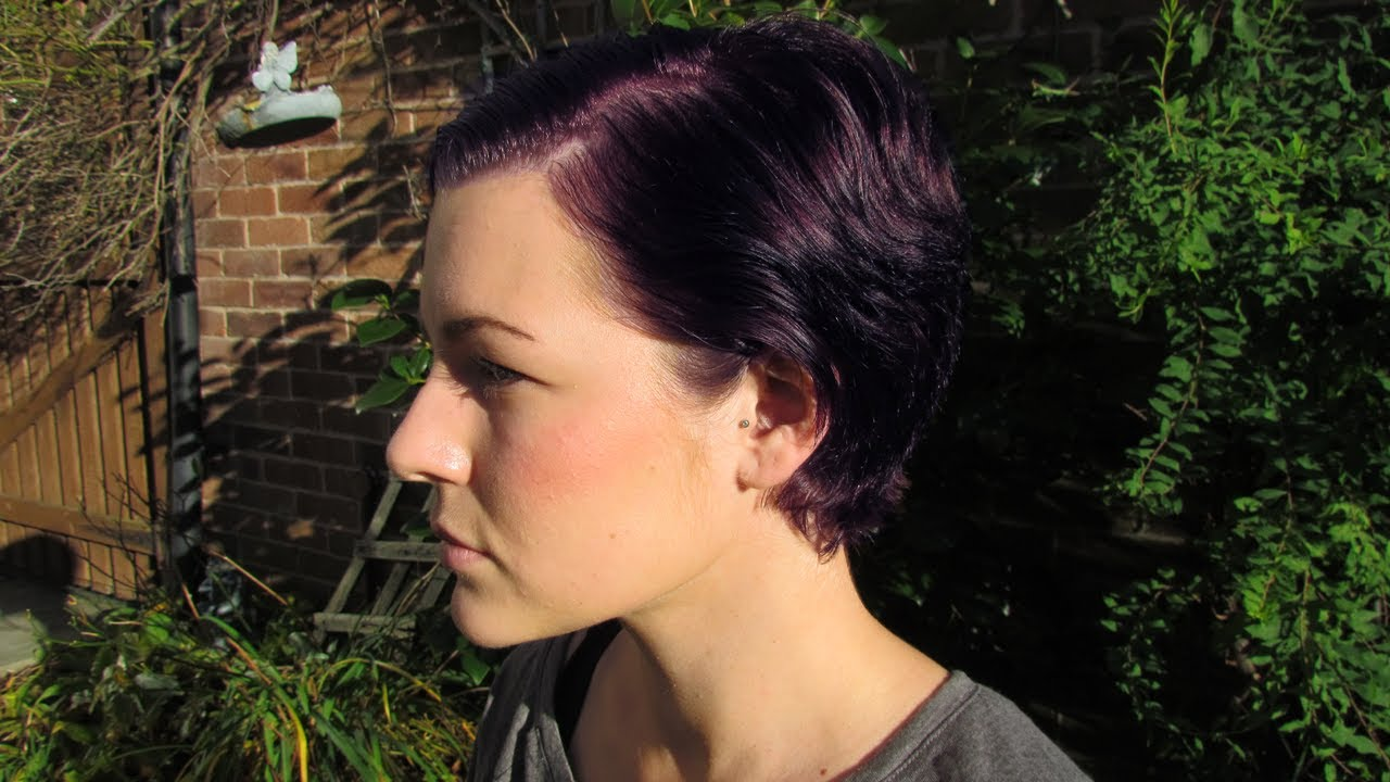 Hair Dying Video A Purple Pixie YouTube