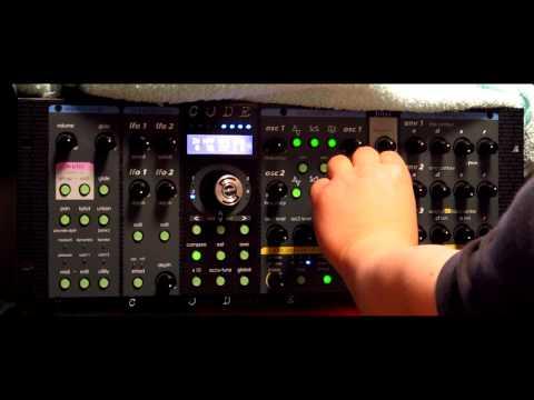 Studio Electronics Omega Code 8 Polyphonic demo - Arp 2600 and CS80 filters