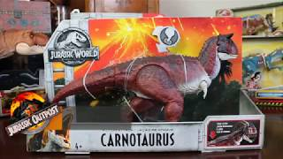 Mattel Jurassic World Fallen Kingdom Action Attack Carnotaurus Review!