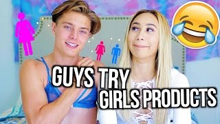 GUYS TRY GIRLS PRODUCTS!