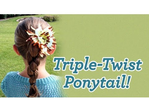 Cute Teen Bun | Updo Hairstyles · Cute Girls Hairstyles | Triple Twist
