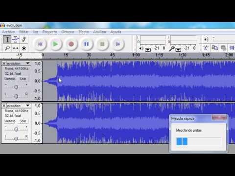 Como quitarle la voz a una cancion (Audacity)