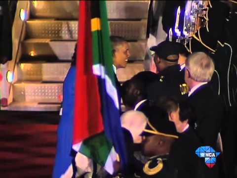 Obama arrives in SA