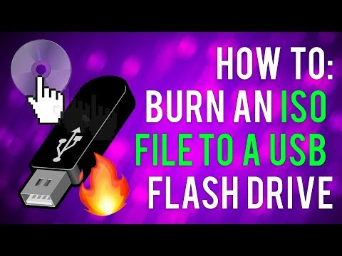 How To Burn a ISO file to a USB Flash Drive
