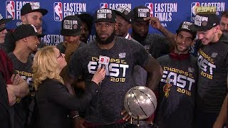 Trophy Presentation Ceremony - 2018 NBA Eastern Conference Finals
