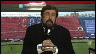 El análisis de Alejandro Apo. San Lorenzo 1 - Independiente 2. Fecha 12. Primera División 2014. FPT