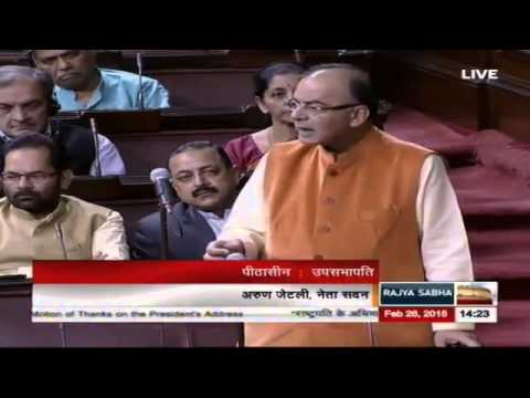Shri Arun Jaitley's speech in the discussion on the Motion of Thanks on President's Address
