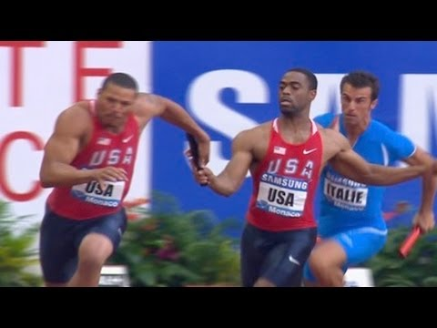 USA Men's relay team post world leading time  - Universal Sports