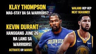 Klay Thompson at Kevin Durant Mag-Stay Ba Sa Warriors?