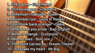 Lagu NOSTALGIA Best slow rock barat 90an terbaik terpopuler (Best COVER)