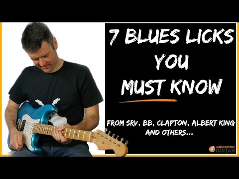 Blues Licks Lesson - Stevie Ray Vaughan, BB King, Albert King Eric Clapton Licks You Need To Know...
