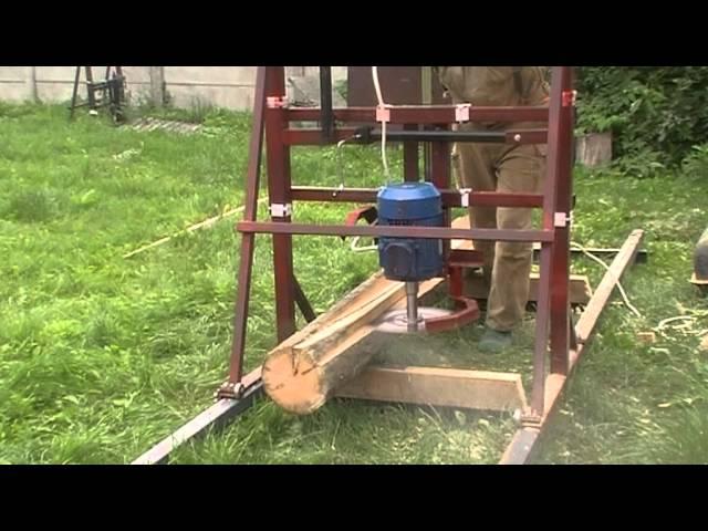 Пилорама своими руками дисковая для трактора 190