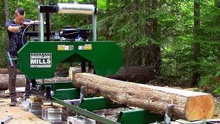 We Got a Portable Sawmill!- Log Cabin Update- Ep 8.1