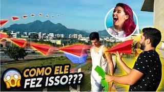 VOAMOS COM AVIÕES DE PAPEL DE UM LUGAR MUITO ALTO!