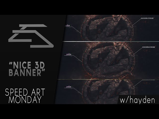 Speed Art Monday Zebs Banner | By: Hayden