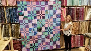 """Donna's FREE """"Twist and Shout"""" Disappearing Four Patch Quilt pattern!"""