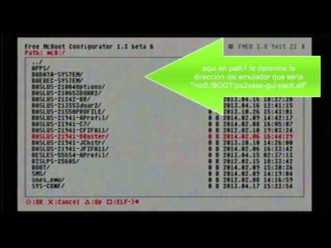 emulador de psx-ps one para ps2 en free mcboot (juegos por usb)