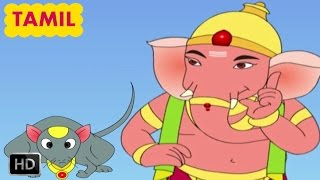 Ganesha Stories for Children - Tamil Kids Stories - Ganesha Travels On A Moon - Animated Cartoons