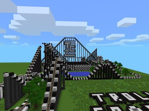 TrollerCoaster2 Full Ride A Minecraft Pocket Edition Rollercoaster
