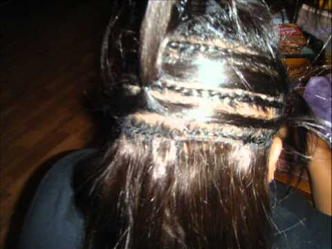 hairstyles without bangs : Partial Sew In Weave Tutorial With Diagonal Braiding How To Save ...