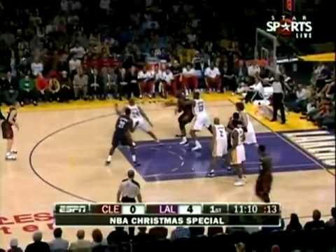 2009-2010 NBA Season- XMAS Cleveland Cavaliers vs Los Angeles Lakers Parte 1