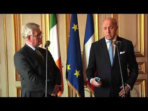 Entretien de Laurent Fabius avec son homologue irlandais Eamon Gilmore (14/03/2014)