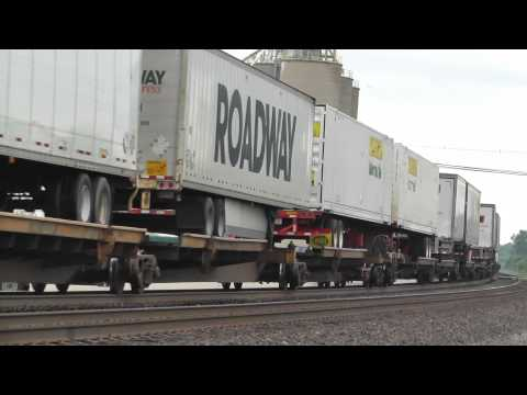(1080p HD) NS Intermodal Heads West Through Oak Harbor, OH on 7/27/2013