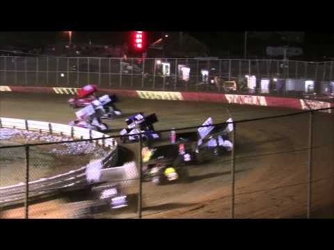 Lincoln Speedway 410 and 358 Sprint Car Highlights 4-25-15