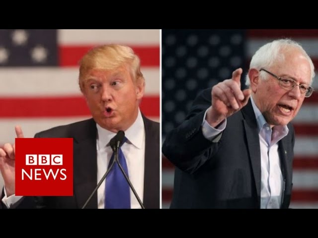 Trump v Sanders: Billionaire and socialist shake up US 2016 - BBC News