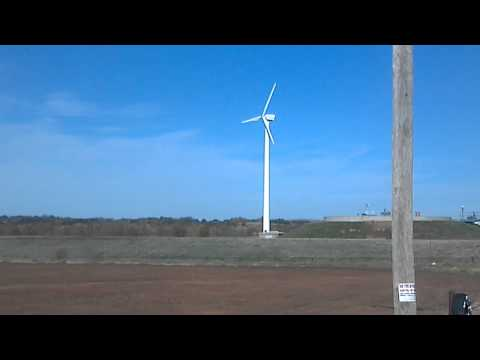 Wind Turbine - Northern Power 100kW at Guthrie water treatment plant