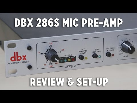 dbx 286s Mic Pre-Amp Review + Set-up Walkthrough