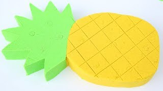 DIY How To Make Colors Kinetic Sand Pineapple Kinetic Sand Compilation Mighty Toys
