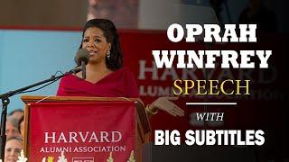 Oprah Winfrey Harvard Commencement Speech | ENGLISH SPEECH with BIG Subtitles