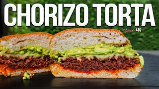 Mexican Chorizo Torta Sandwich | SAM THE COOKING GUY 4K