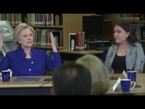 Hillary Clinton Sits Down To Talk with DREAMers