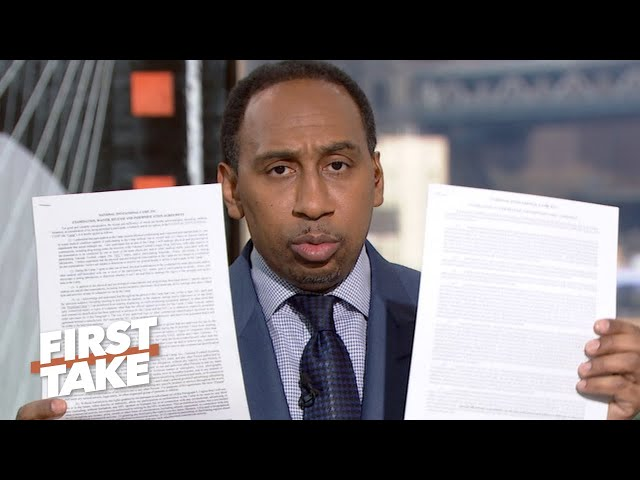 Stephen A. defends his Colin Kaepernick criticisms | First Take thumbnail