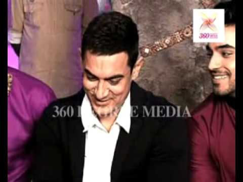 Aamir Khan talking in Marathi with cast of popular Star Plus...