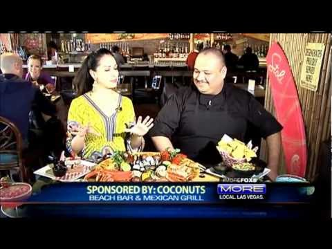 Mexican restaurants Fox 5 Las Vegas Coconuts best mexican food seafood party 4 foot burrito