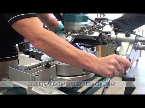 Makita Tool Tips   Calibrating your slide saw